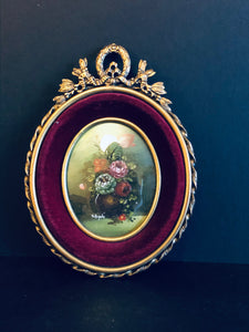 The Director Franny - Victorian Miniature Oil Painting