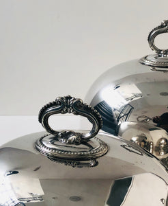 The Director Howard - Antique Silver Cloche / Food Domes