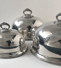 Load image into Gallery viewer, The Director Howard - Antique Silver Cloche / Food Domes