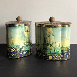 The Mixologist James - French Vintage Tin Tea Caddie Container