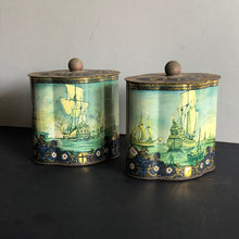 Load image into Gallery viewer, The Mixologist James - French Vintage Tin Tea Caddie Container