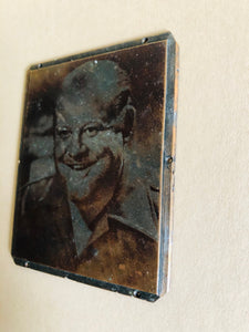 The Director Jamie - Small Vintage Copper Printing Plate