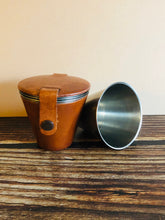 Load image into Gallery viewer, The Director Julian - Vintage Leather Cased Riding Travel Cups