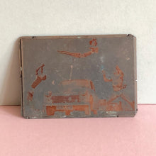 Load image into Gallery viewer, The Director Noel - Vintage Copper Printing Plate