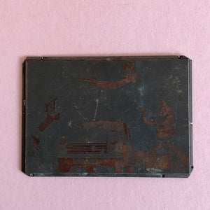 The Director Noel - Vintage Copper Printing Plate