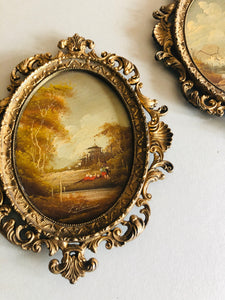 The Director Rae - Victorian Miniature Oil Painting