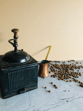 Load image into Gallery viewer, The Director Reese - Antique Black Tin Coffee Grinder