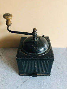 The Director Reese - Antique Black Tin Coffee Grinder