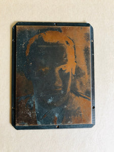 The Director Vincent- Small Vintage Copper Printing Plate