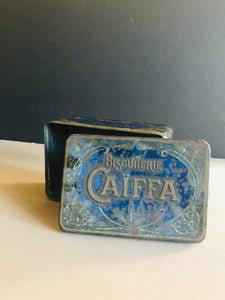 The Mixologist Kelly - Antique Metal Blue Advertising Tin