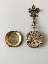 Load image into Gallery viewer, The Director Lucy - French Silver and Enamel Fob Watch