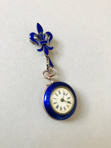 The Director Lucy - French Silver and Enamel Fob Watch