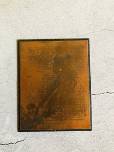 The Director Phillip - Vintage Copper Printing Plate