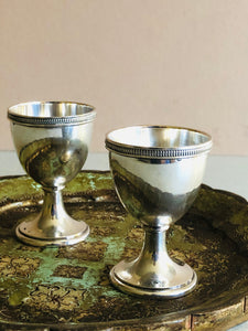The Director Ryan - Pair Of Antique Silver Egg Cups