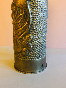 The Director Sandra - Stunning Trench Art Brass Cylinder