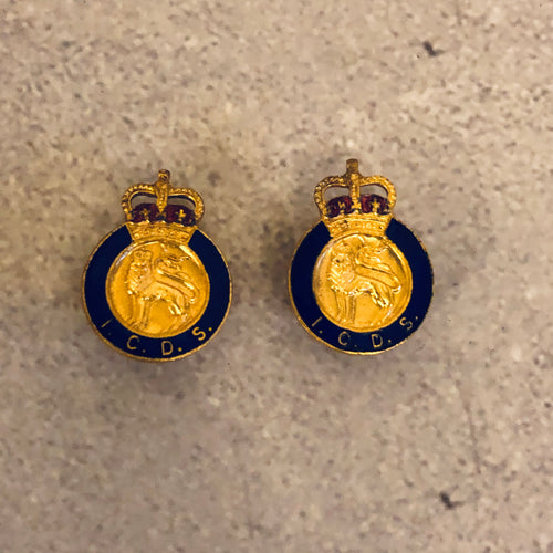 The Director Aston - Pair of Vintage Industrial Civil Defence Service Badge