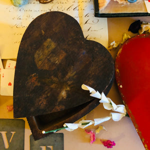 Heart wooden box