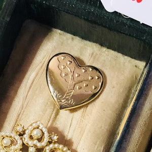 Gold Heart Brooch