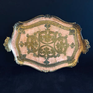 The Tattooist Lee - Pink and Gold Florentine Tray