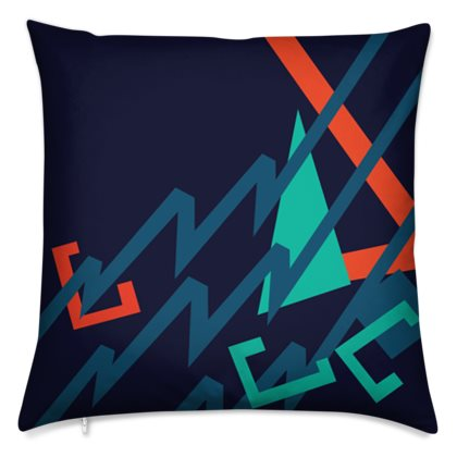 The Sommelier Leslie - Cotton Printed Cushion in Aztec Design