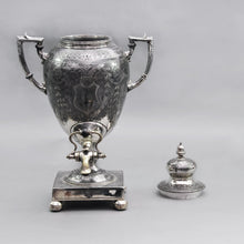 Load image into Gallery viewer, Earl Logan -  Victorian Silver Plate Drinks Urn / Samovar