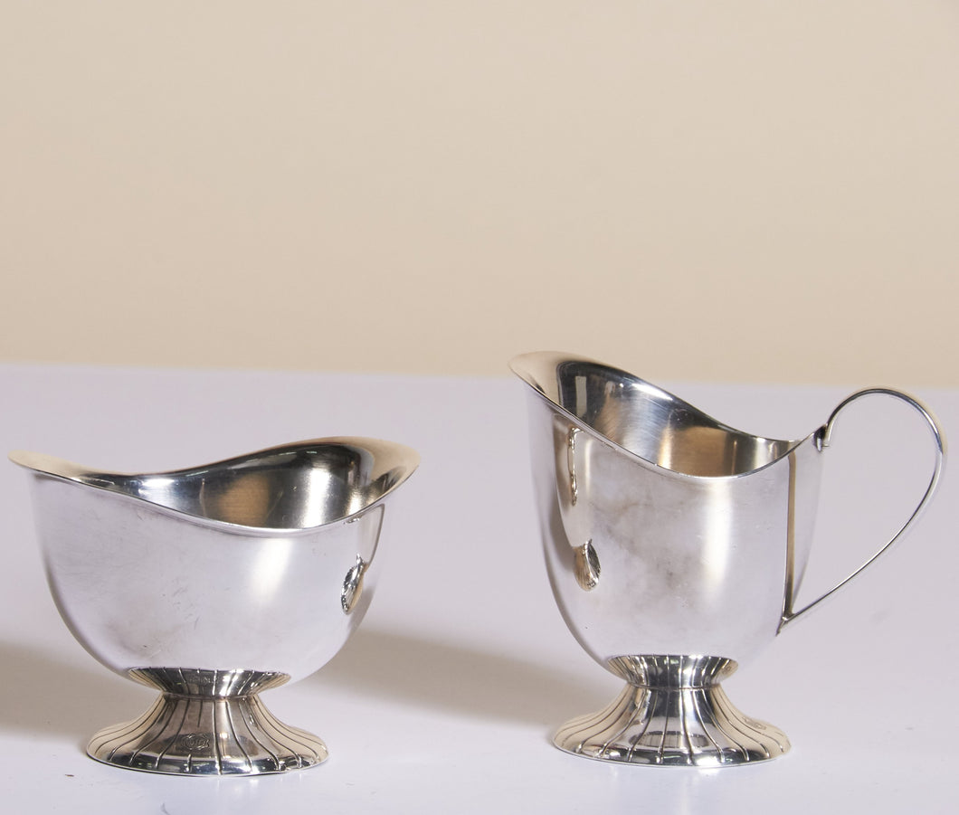 Master Meredith - Silver Plate Sugar Bowl and Cream Jug