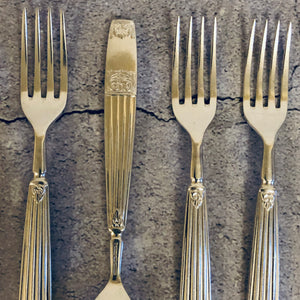 The Headhunter Madison - Vintage Ribbed Handle Silver Forks