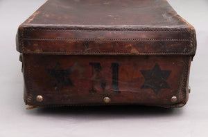 The Goth Cameron - Large Distressed Vintage Leather Storage Suitcase