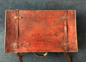 The Goth Naomi - Distressed Vintage Leather Travel Suitcase