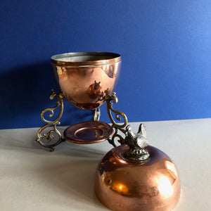 The Groom Louis - Rare Antique Copper Egg Coddler
