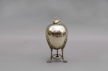 Load image into Gallery viewer, The Groom Ash - Silver Egg Coddler with Swan Finial