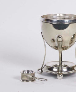 The Groom Brian - Antique Silver Egg Coddler