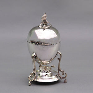 The Groom George - Victorian Silver Egg Coddler with Eagle Finial
