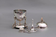 Load image into Gallery viewer, The Groom George - Victorian Silver Egg Coddler with Eagle Finial