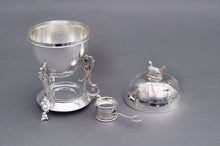 Load image into Gallery viewer, The Groom Ivan - Antique Silver Plated Egg Coddler With Chicken Top