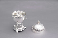 Load image into Gallery viewer, The Groom Lance - Silver Egg Coddler with Rippled Lid