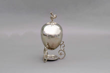 Load image into Gallery viewer, The Groom Steve - Silver Egg Coddler with Rooster Finial