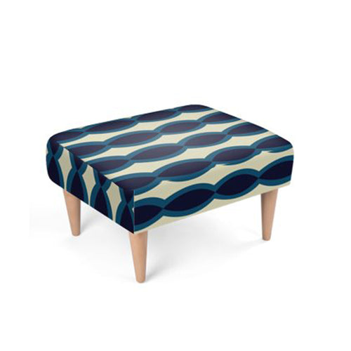 The Sommelier Taylor - Velour Printed Footstool