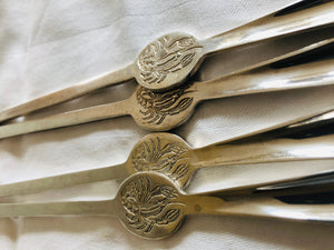 The Headhunter Ashley - Vintage Silver Plate Lobster Forks by Gero