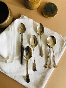 The Headhunter Glen - Pair of Antique Silver Dessert Spoons
