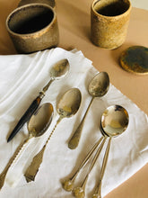 Load image into Gallery viewer, The Headhunter Glen - Pair of Antique Silver Dessert Spoons