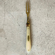 Load image into Gallery viewer, The Headhunter Jade  - Antique Silver Fold Two Tine Fork 1866