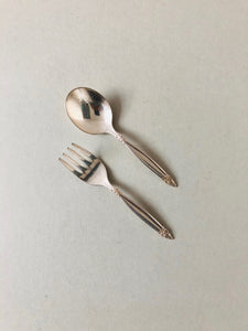 The Headhunter Kieran -  Tiny Vintage Spoon and Fork Set