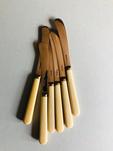 The Headhunter Logan - Set of 6 Gold Tone Butter knives