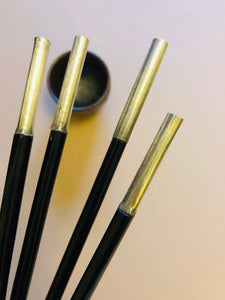 The Headhunter Madison - Antique Silver & Lacquer Chopsticks