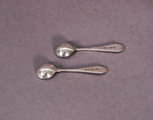Load image into Gallery viewer, The Headhunter Morgan - Pair of Antique Tiny Salt Spoons