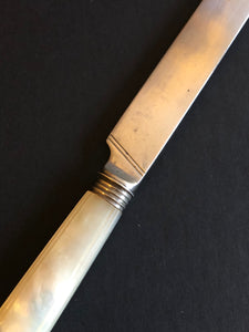 The Headhunter Sasha - Antique Silver & Mother Of Pearl Knife
