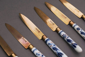 The Headhunter Stephen - Set of 6 German Porcelain Handled Fruit Knives in a Box