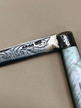 Load image into Gallery viewer, The Headhunter Suri - Antique silver Fold Fruit Knife 1888