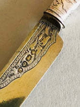 Load image into Gallery viewer, The Headhunter Timothy - Antique Silver & Mother Of Pearl Knife 1862